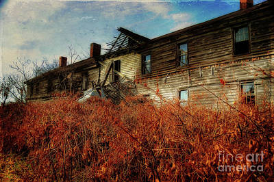 Dilapidated House Photograph - Remembering When by Lois Bryan