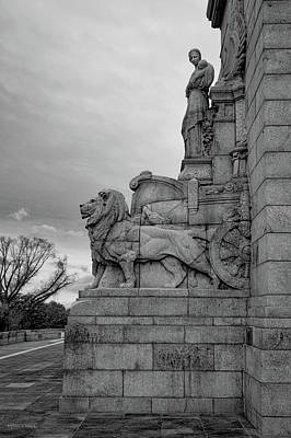Photograph - Remembrance Lions by Ross Henton