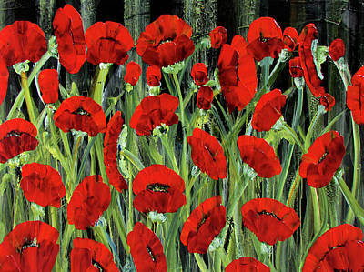 Painting - Remembrance Poppies by Diane Dean
