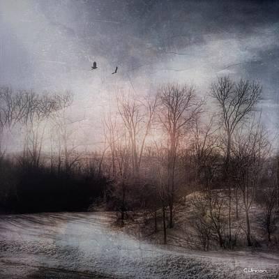 Pathway Digital Art - Rements Of Winter by Cyndy Johnson