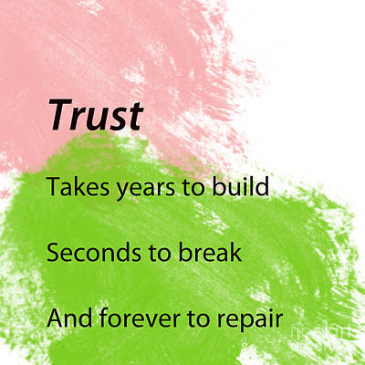 Painting - Reminders- Trust by Trilby Cole