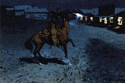 Frederic Remington Digital Art - Remington Frederic An Arguement With The Town Marshall by Frederic Remington