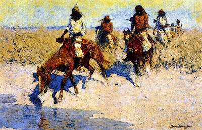 Remington Frederic Pool In The Desert Art Print by Frederic Remington
