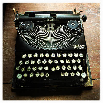 Typewriter Wall Art - Photograph - Remington Portable Old Used Typewriter by Matthias Hauser
