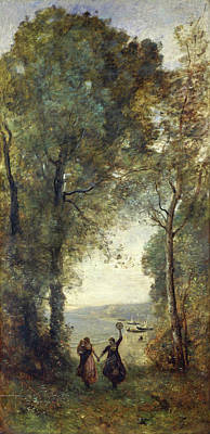 Corot Painting - Reminiscence Of The Beach Of Naples by Camille Corot