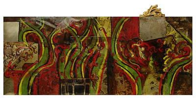 Abstracto Mixed Media - Reminiscencia Barroca by Ruben  Chuela