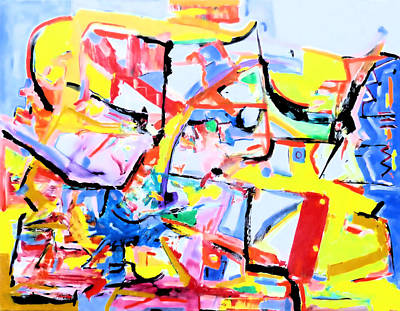 Painting - Remixed by Rojo Chispas