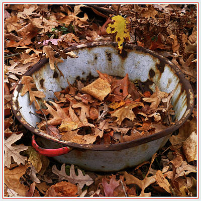 Photograph - Remnant Enamelware Wash Basin by Scott Kingery