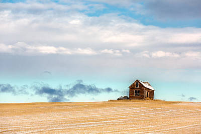 Wheat Field Sky Photograph - Remnants Of The Past by Todd Klassy