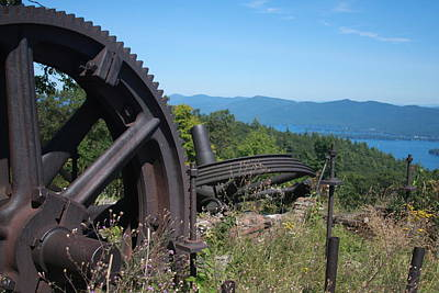 Photograph - Remnants Of The Prospect Mountain Cable Incline Railway by Vadim Levin