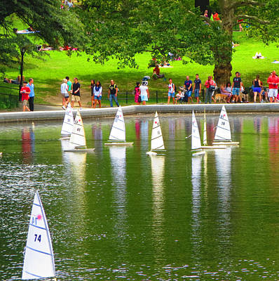 Painting - Remote Controlled Toy Sail Boats At Central Park New York Usa America Photo By Navinjoshi Fineartame by Navin Joshi