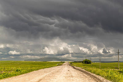 Photograph - Remote Dirt Track Leads To Stormy Horizon by John Williams