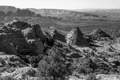 Photograph - Remote Grandeur - Arizona Landscapes - Black And White by Gregory Ballos