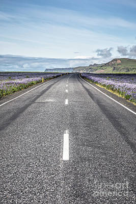 Photograph - Remote Highway Iceland by Edward Fielding