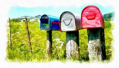 Photograph - Remote Letterboxes by Jenny Setchell