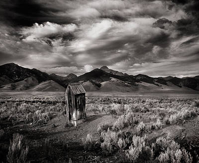 Outhouses Photograph - Remote Necessities by Leland D Howard