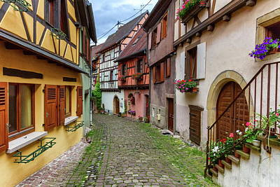 Photograph - Rempart-sud Street In Eguisheim, Alsace, France by Elenarts - Elena Duvernay photo