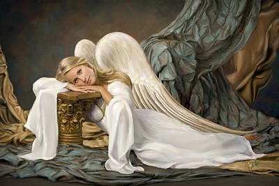 Renaissance Angel Art Print by Daria Doyle