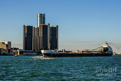 Photograph - Renaissance Center And Captain Henry Jackman by Grace Grogan