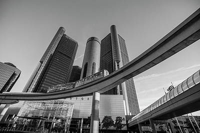Photograph - Renaissance Center And People Mover by John McGraw