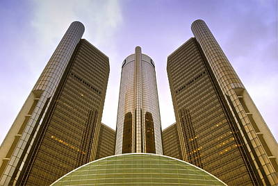 Renaissance Center Art Print by Michael Peychich