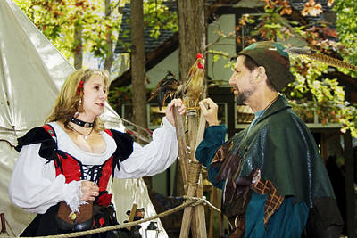 Photograph - Renaissance Faire With Hen by Francesa Miller