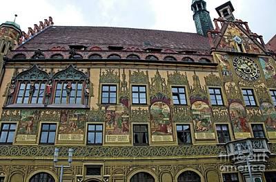 Renaissance Murals Ulm Rathaus Germany Original by Elzbieta Fazel