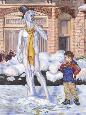 Painting - Renaissance Snowman by Jeff Brimley