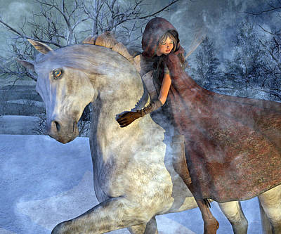 Animals Digital Art - Renaissance Snowy Christmas Eve by Betsy Knapp
