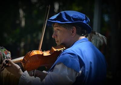 Photograph - Renaissance Street Violinist by Lori Seaman
