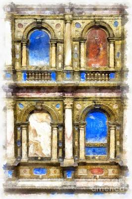 Digital Watercolor Painting - Renaissance Treasures by Edward Fielding