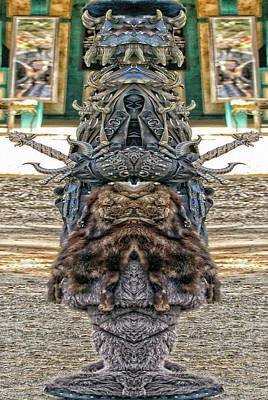 Photograph - Renaissance Warrior Pareidolia by Constantine Gregory