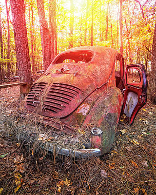 Photograph - Renault 4cv Final Rest by Alan Raasch