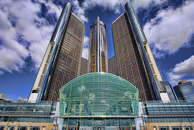 Rencen Detroit Gm Renaissance Center Print by Gordon Dean II