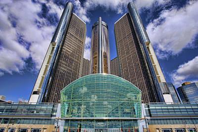 Rencen Detroit Gm Renaissance Center Original by Gordon Dean II