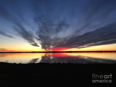 Digital Art - Rend Lake Sunset1 by Nancy Pace