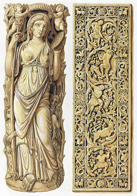 Painting -  Renderings Of An Ivory Carving  by Herman Wilhelm Soltau