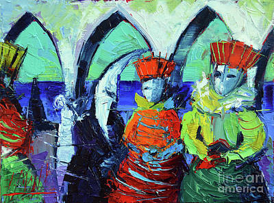 Carnaval Painting - Rendez-vous In Venice by Mona Edulesco