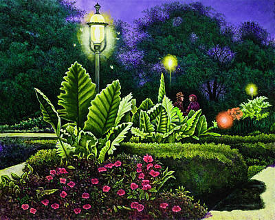 Painting - Rendezvous In The Park by Michael Frank