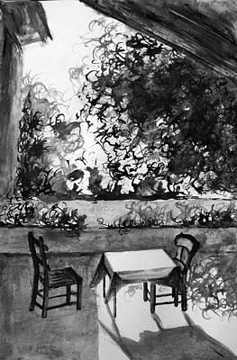 Sunny Day Drawing - Rendezvous by Uma Krishnamoorthy