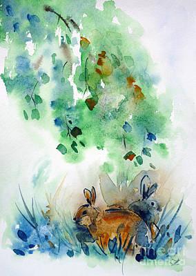 Painting - Rendezvous by Zaira Dzhaubaeva