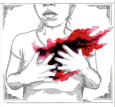 Depression Mixed Media - Rending by Maria Volkova