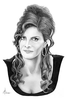 Famous People Drawing - Rene Russo by Murphy Elliott