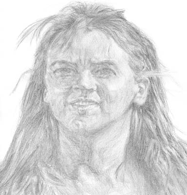 Drawing - Renee Oconnor by Sami Tiainen