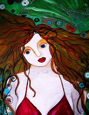 Painting - Rennaissance Mermaid by Pristine Cartera Turkus