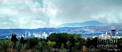 Photograph - Reno City View by Bobbee Rickard