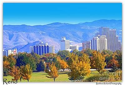 Photograph - Reno In The Fall Skyline by Bobbee Rickard