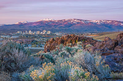 Art Print featuring the photograph Reno Nevada Spring Sunrise by Scott McGuire