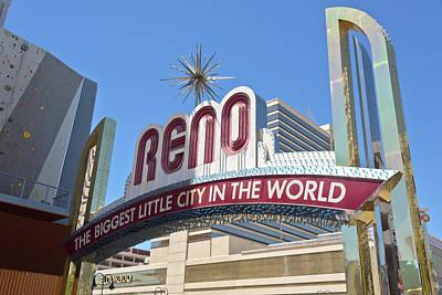 Reno Nevada The Biggest Little City In The World. Original by Gino Rigucci