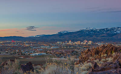 Reno Spring Sunrise Art Print by Scott McGuire